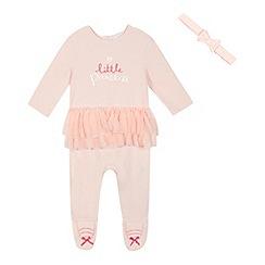 bluezoo - Baby girls' pink tutu sleepsuit and headband