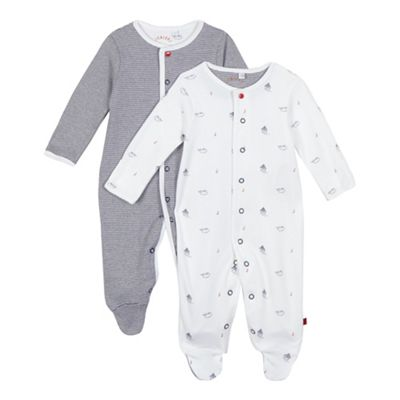 J by Jasper Conran Pack of two baby boys white boat and