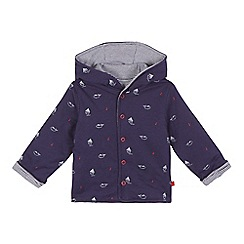 J by Jasper Conran - Baby boys' navy boat and whale print reversible jacket