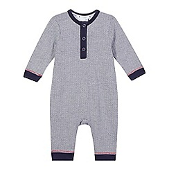 J by Jasper Conran - Baby boys' navy striped romper suit