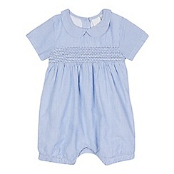 J by Jasper Conran - Baby boys' blue and white striped print romper suit