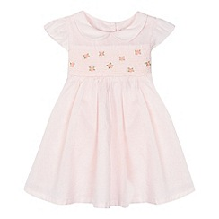 J by Jasper Conran - Baby girls' pink rose stitched dress and nappy cover set