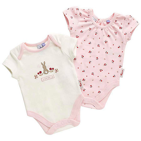 J by Jasper Conran - Designer Babies pack of two pink berry bodysuits