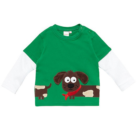 bluezoo - Babies green textured dog top