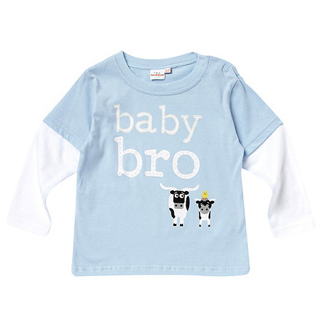bluezoo - Babies blue cow print top