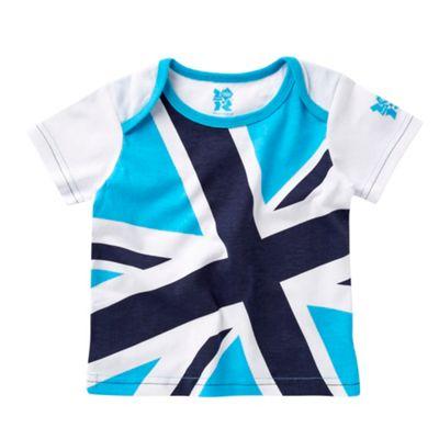 Babys blue Union Jack t-shirt