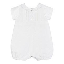 RJR.John Rocha - Baby boys' white silk romper suit
