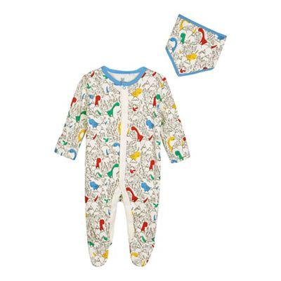 bluezoo Baby boys multi-coloured dinosaur print sleepsuit