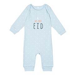 bluezoo - Baby boys' light blue 'my first Eid' sleepsuit