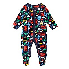 bluezoo - Baby boys' multi-coloured transport print bodysuit