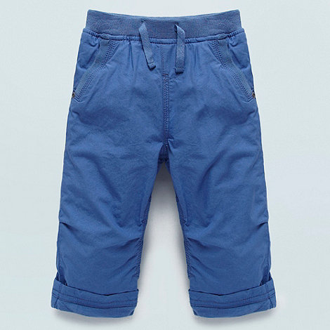 bluezoo - Babies blue roll cuff trousers