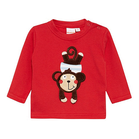 bluezoo - Babies red 3D monkey t-shirt