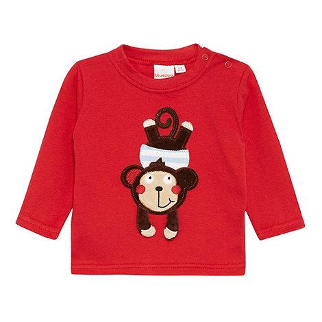 bluezoo - Babies red 3D monkey t-shirt