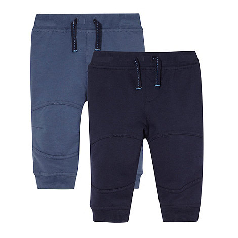 bluezoo - Babies blue pack of two jogging bottoms