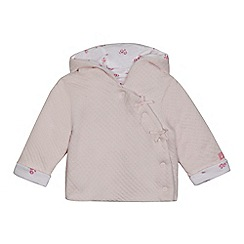 J by Jasper Conran - Baby girls' light pink wadded jacket