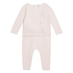 J by Jasper Conran - Baby girls' pink knitted top and bottoms set