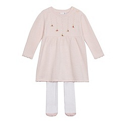 J by Jasper Conran - Girls' knit dress and pair of tights