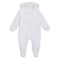 J by Jasper Conran - Baby girls' white fleece all-in-one