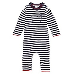 J by Jasper Conran - Baby boys' navy striped all in one