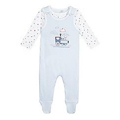 J by Jasper Conran - Baby boys' blue applique sleepsuit