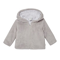 J by Jasper Conran - Babies grey fleece bear jacket