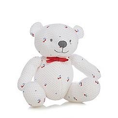 J by Jasper Conran - Baby girls' white cherry print teddy bear