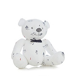 J by Jasper Conran - Baby boys' white boat and whale print teddy bear