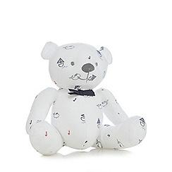 J by Jasper Conran - Baby boys' white boat and whale print teddy bear