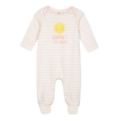 bluezoo Baby girls pink striped print Grandmas Little