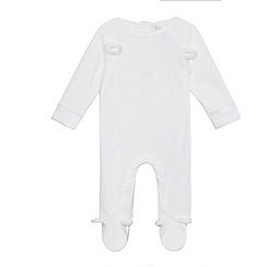 bluezoo - Babies white velour sleep suit