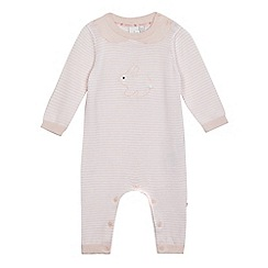J by Jasper Conran - Baby girls' pink bunny knit romper suit