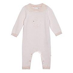 J by Jasper Conran - Baby girls' pink bunny knit romper suit