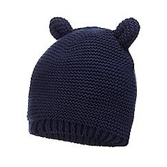 J by Jasper Conran - Baby girls' navy knitted teddy ear hat
