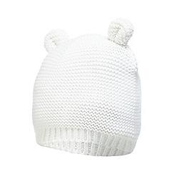 J by Jasper Conran - Baby girls' white knitted teddy ear hat