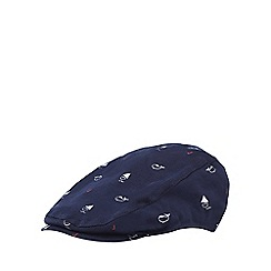 J by Jasper Conran - Newborn navy nautical cotton cap