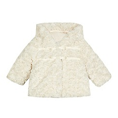 RJR.John Rocha - Baby girls' faux fur bow applique hooded coat