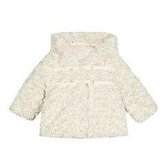RJR.John Rocha - Baby girls' faux fur bow applique hooded coat