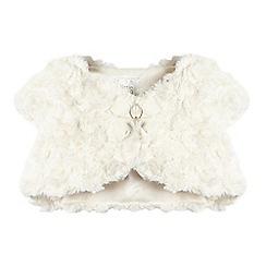 RJR.John Rocha - Baby girls' ivory faux fur bow applique shrug