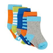 Babies pack of five bright striped socks