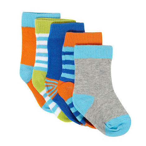 bluezoo - Babies pack of five bright striped socks