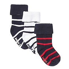 J by Jasper Conran - Designer pack of three babies navy socks
