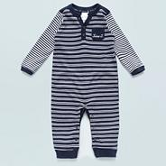 Designer Babies navy striped sleep suit