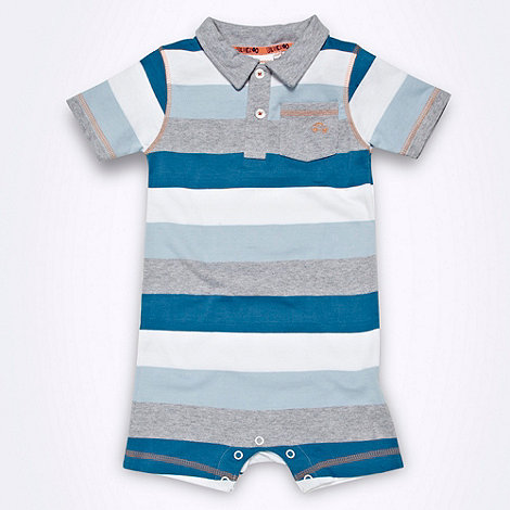 bluezoo - Babies blue multi striped body suit