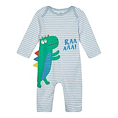 bluezoo - Baby boys' blue dino print sleepsuit