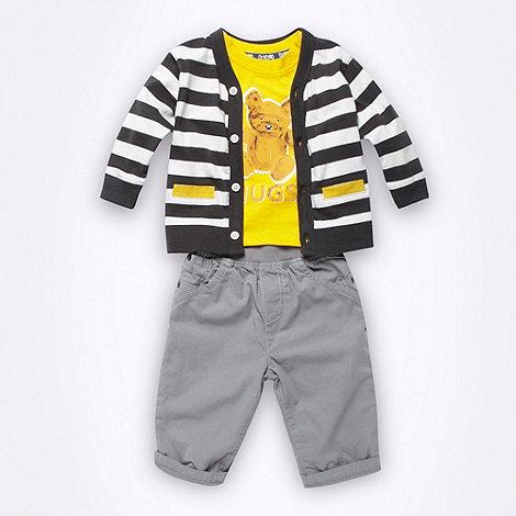 bluezoo - Babies grey three piece set