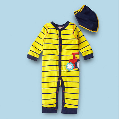 bluezoo - Babies yellow tractor suit