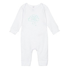 bluezoo - Babies' white 'I'm a limited edition' sleepsuit