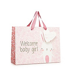 bluezoo - Pink 'Welcome Baby Girl' gift bag