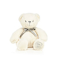 Debenhams - White stuffed teddy bear