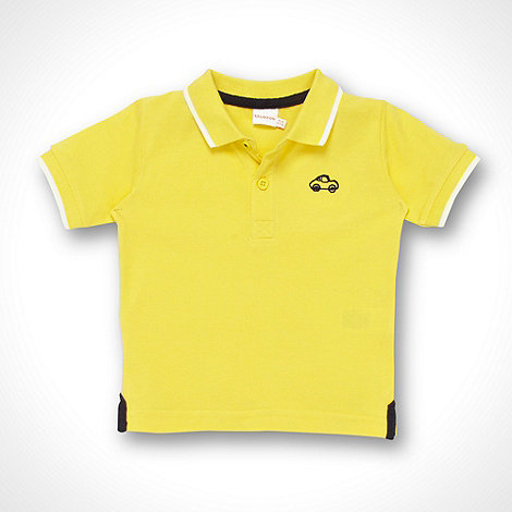 bluezoo - Babies yellow pique polo shirt